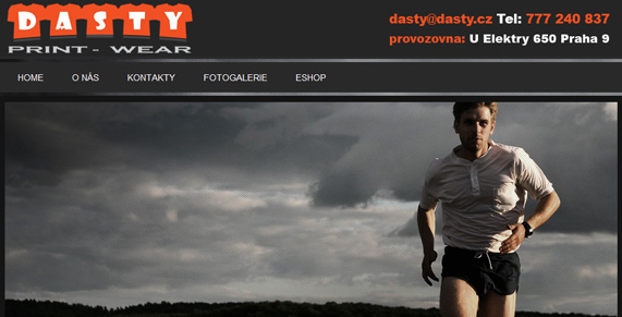 Dasty web screenshot