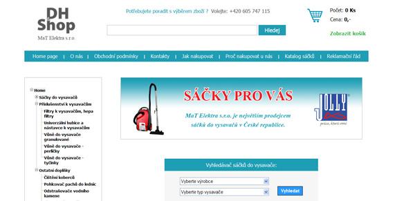 webové stránky - internetový obchod