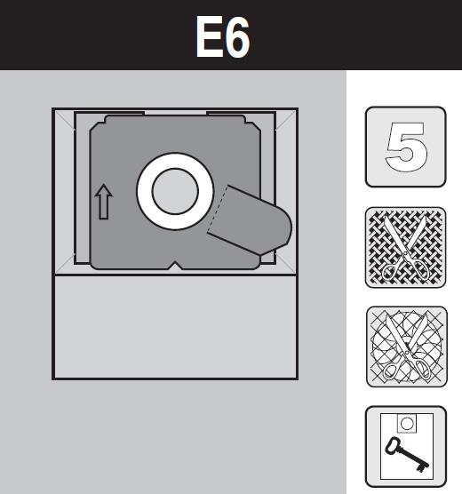 sáček do vysavače e6