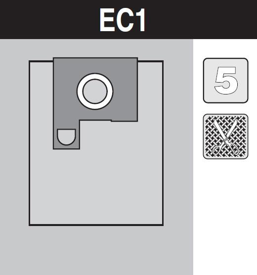 sáček do vysavače ec1