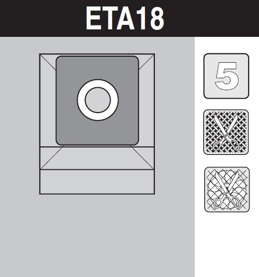 sáček do vysavače eta18