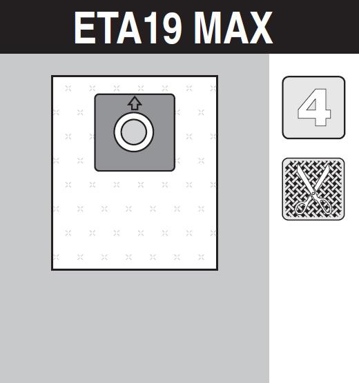 sáček do vysavače eta19_max