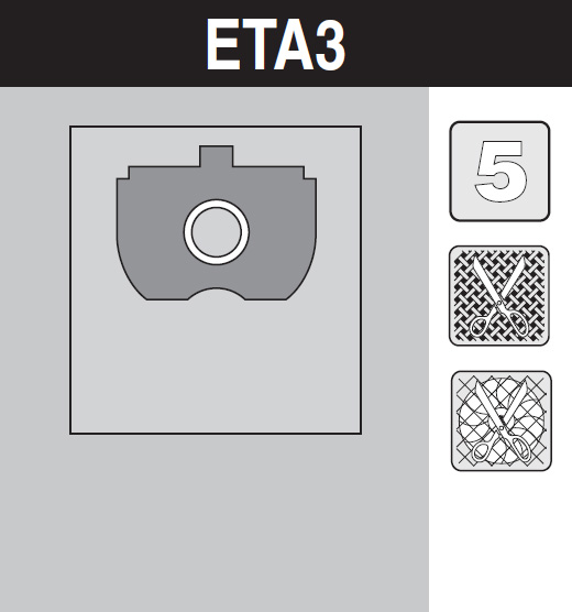 sáček do vysavače eta3