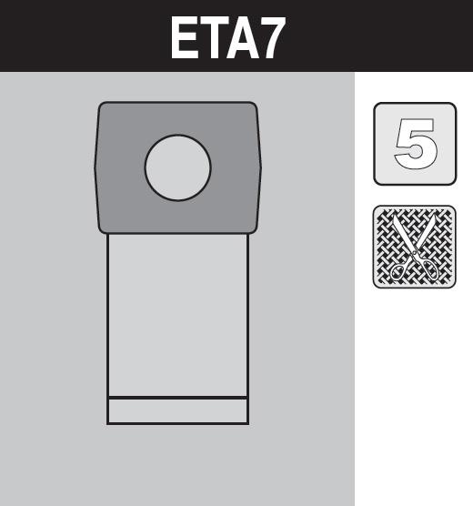 sáček do vysavače eta7