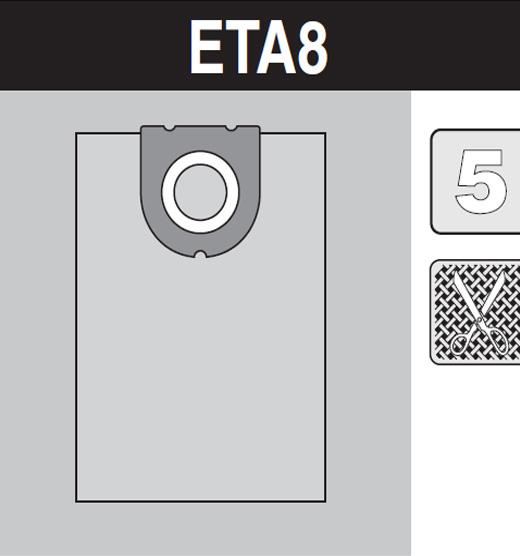 sáček do vysavače eta8