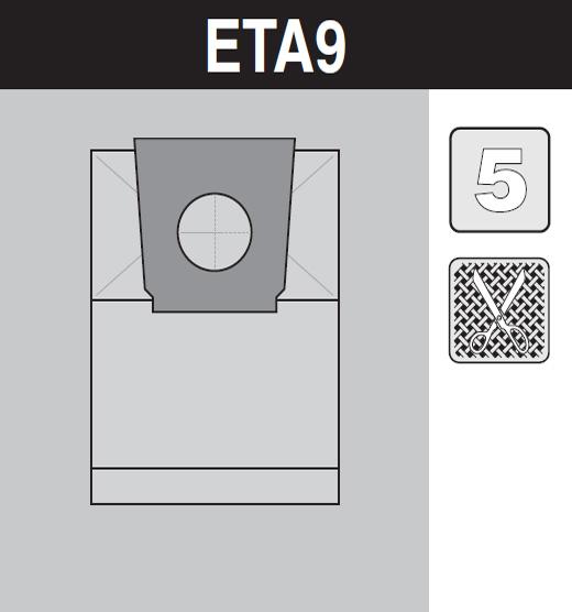 sáček do vysavače eta9