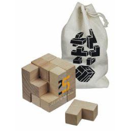 hlavolam wood cube